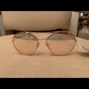 Prada rose gold sunglasses